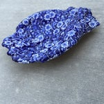 Image of Vintage Blue & White Hands Soap Dish