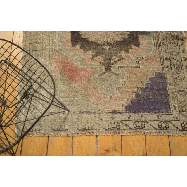 "Vintage Distressed Oushak Rug Runner - 3'7"" x 8' - Image 8 of 10"