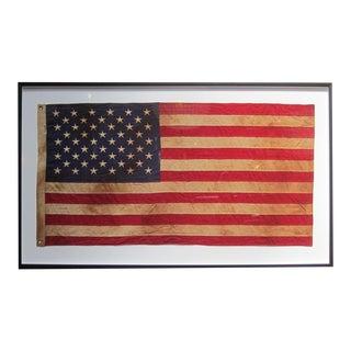 Framed Vintage American Flag