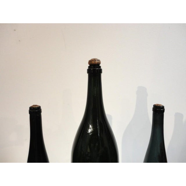 Image of Group of Three Early 19thc Wine Bottles With Original Corks