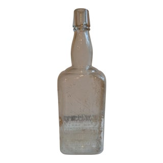 Vintage 1890s Theodore Netter Philadelphia Whiskey Bottle