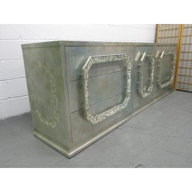Silver Leaf Dresser in the style of James Mont - Image 2 of 8