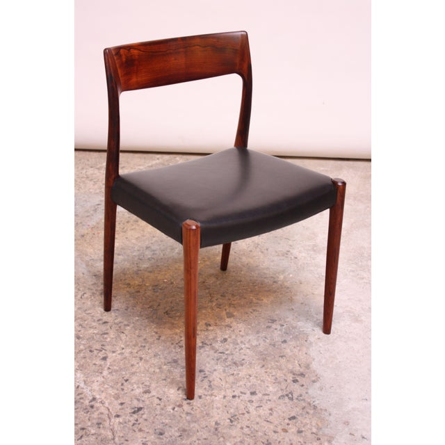 Set of Six Rosewood #77 Dining Chairs by Niels O. Møller - Image 7 of 11