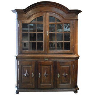 18th Century Baroque Dutch Display Cabinet