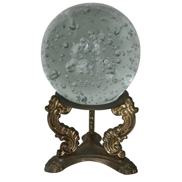 Floating Bubbles Glass Orb & Stand - Image 1 of 4