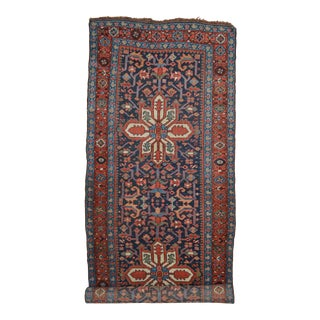 "Antique Persian Heriz Rug Runner - 3'6"" X 8'10"""