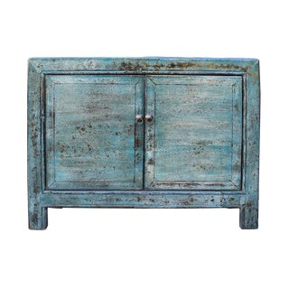 Chinese Distressed Blue Cabinet