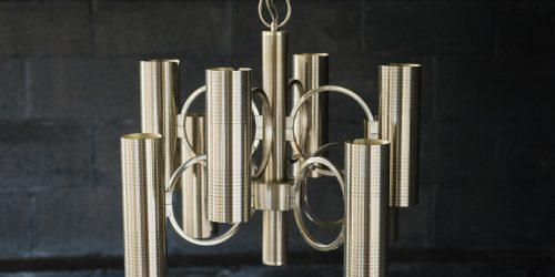 Gaetano Sciolari For Lightolier Brass Chandelier Chairish