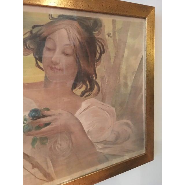 Art Nouveau 'Lady & Flowers' Poster - Image 6 of 10