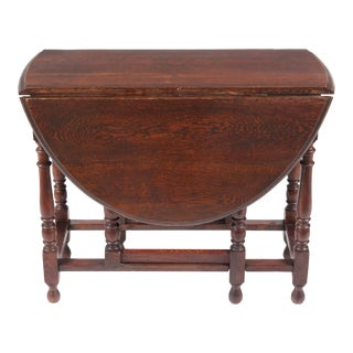 1920s William and Mary Gateleg Table