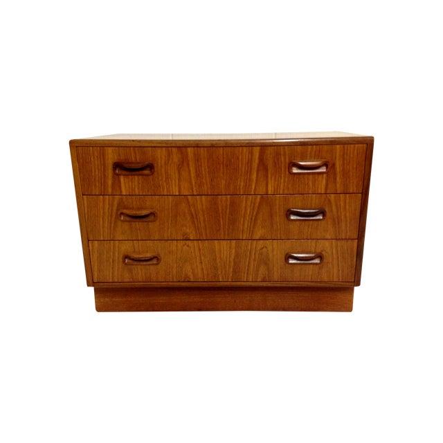 Image of Mid-Century Modern 3-Drawer Dresser in Teak