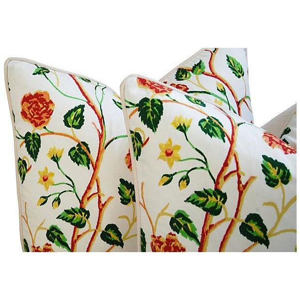 Custom Scalamandre William & Mary Pillows - Pair - Image 2 of 8
