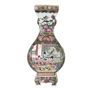 Chinese Qianlong Period Famille Rose Vase on Stand
