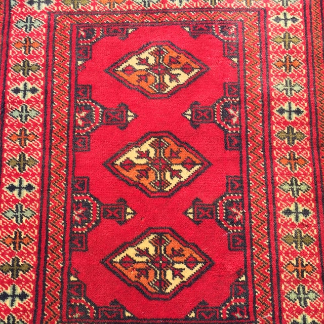 "Vintage Turkaman Red Persian Rug - 2'2"" x 2'9"" - Image 4 of 7"