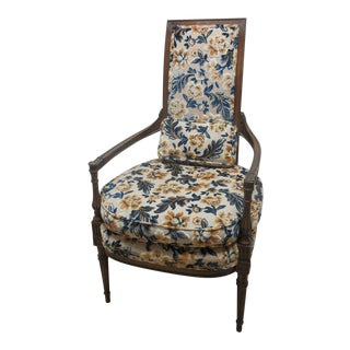 Vintage French Regency Provincial Fireside Lounge Club Chair