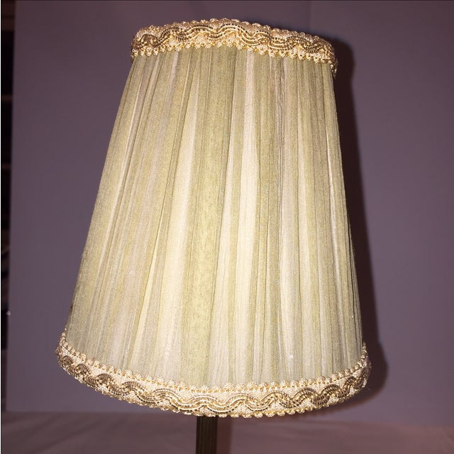 Image of Vintage Brass & Marble Table Lamps - A Pair