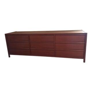 Mid-Century Modern Teak Jesper 9 Drawer Dresser