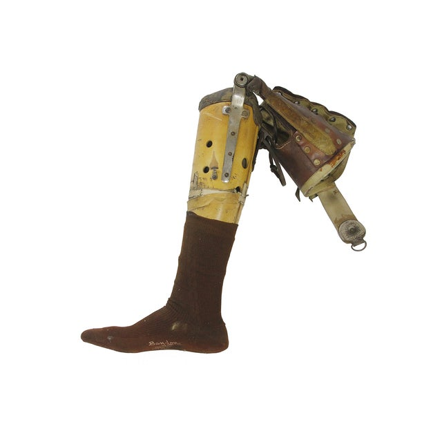 Image of Vintage Medical Prosthetic Right Leg