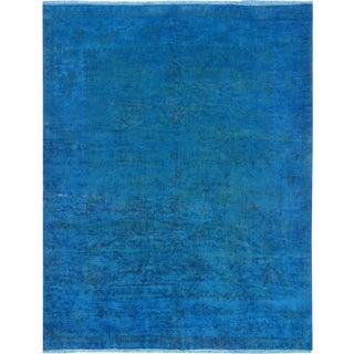 "Pasargad Blue Overdye Lamb's Wool Contemporary Area Rug - 9'2"" X 11'10"""
