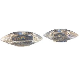 Orrefors Ice Glass UFO Votives - A Pair