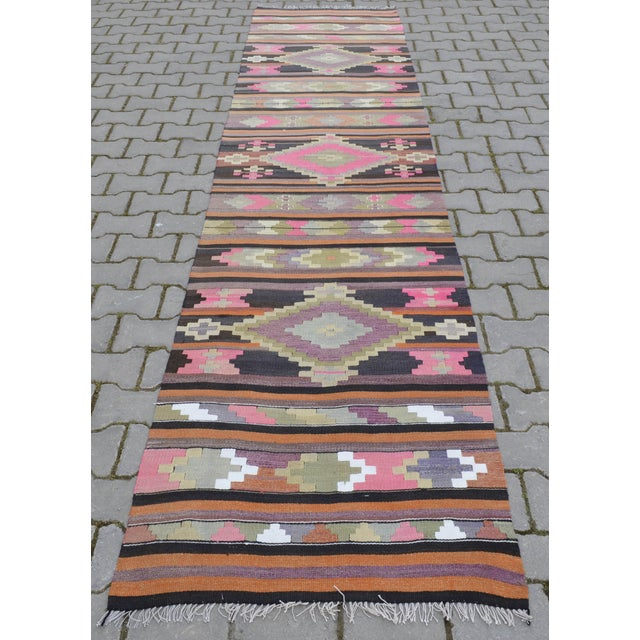 Hand Woven Vintage Turkish Runner - 2′7″ × 9′2″ - Image 6 of 10