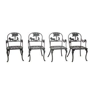Vintage Cast Aluminum Garden Chairs