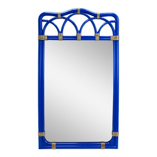 Palm Beach Style Blue Mirror