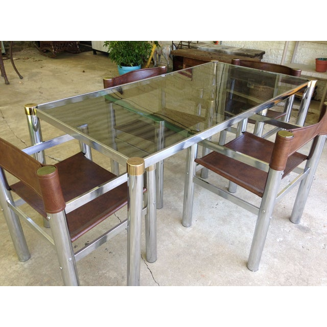 1970s Chrome Dining Table Amp 4 Chairs Chairish