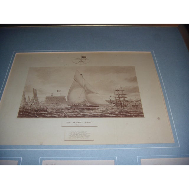 Framed Photo of The Terrible Fiona Yacht, 1899 - Image 7 of 11