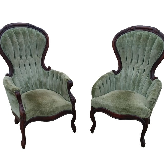 Victorian Antique Parlor Chairs - Victorian Antique Parlor Chairs Chairish