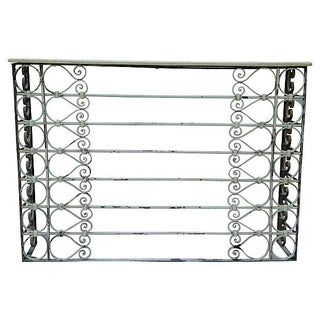 Vintage Charleston Wrought Iron Console Table