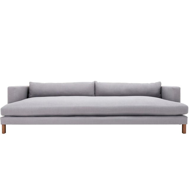 Clad Home Modern Low Profile Linen Sofa - Image 1 of 5