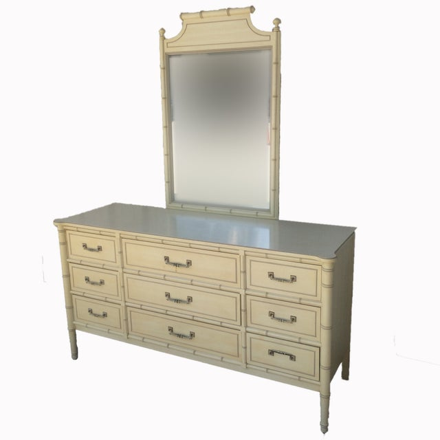 Henry Link Bali Hai Collection Dresser With Mirror - Image 4 of 10