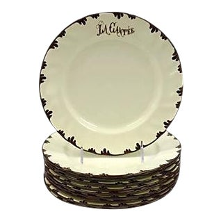 French Cafè Luncheon Plates, S/11