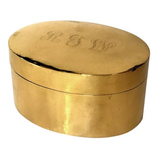 Monogramed Polished Brass Box