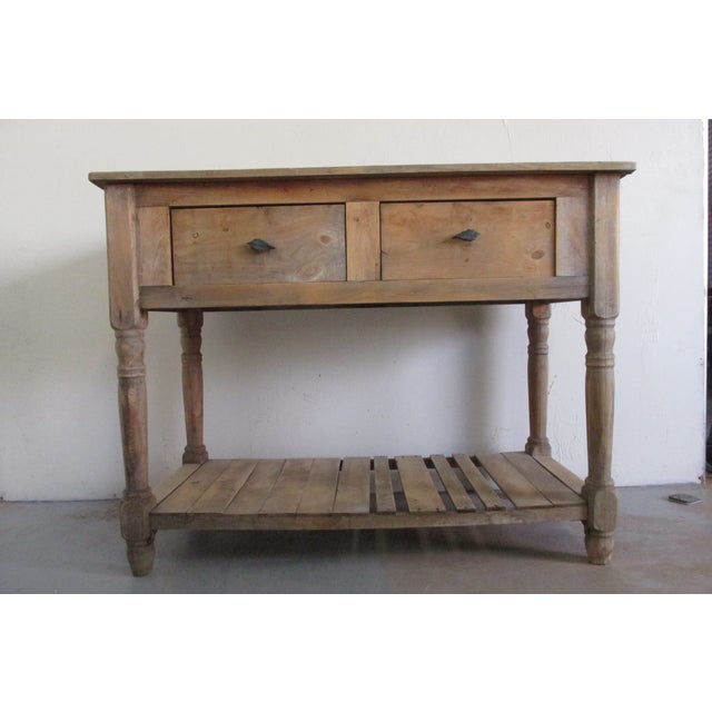 Primitive Pine Console Table - Image 2 of 6