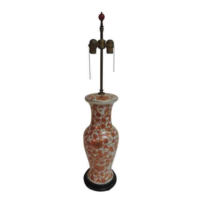 Imari Floral Porcelain Tall Table Lamp - Image 1 of 7