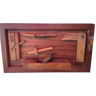 Antique Tools in Reclaimed Wood Shadowbox