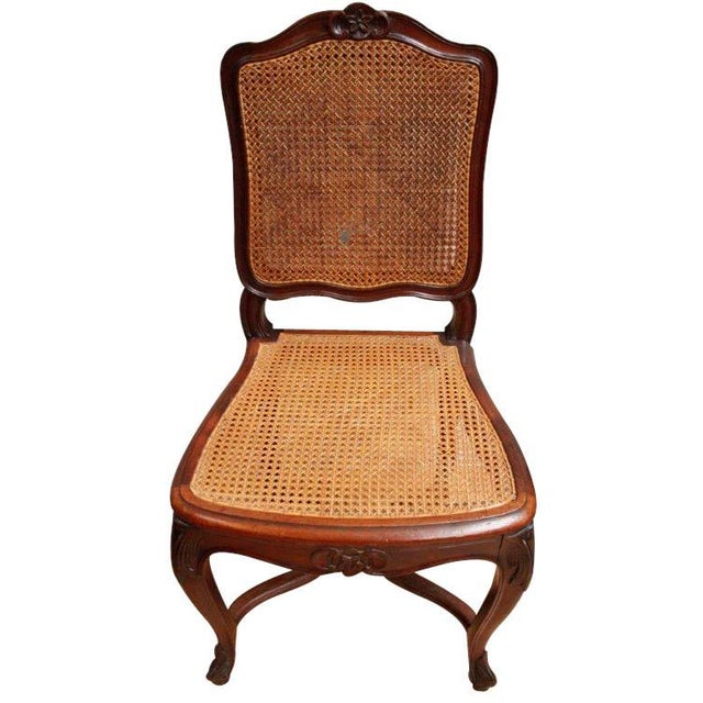 Image of Vintage Louis XV Rococo Dining Chairs - Set of 6