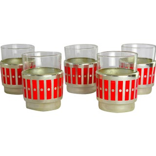Vintage Mid-Century Cocktail Glasses - Set of 5