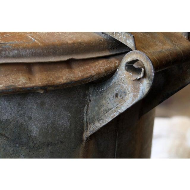 Vintage Hinged Lid Rubbish Bin - Image 2 of 5
