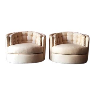 Milo Baughman Mid-Century Barrel Chairs- A Pair