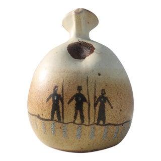 Vintage Flat Earth Hand Vase