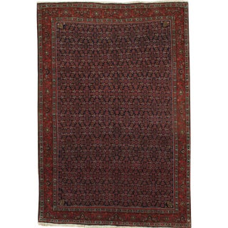 Pasargad N Y Persian Bidjar Hand-Knotted Rug - 6′6″ × 9′7″