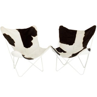 Pair of Cowhide Butterfly Chairs