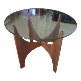Adrian Pearsall Sculptural Walnut & Glass Side Table