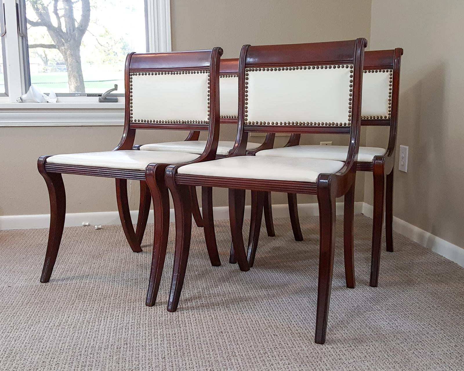 1950s Drexel Mahogany French Empire Style Dining Chairs   Set Of 4   Image  2 Of