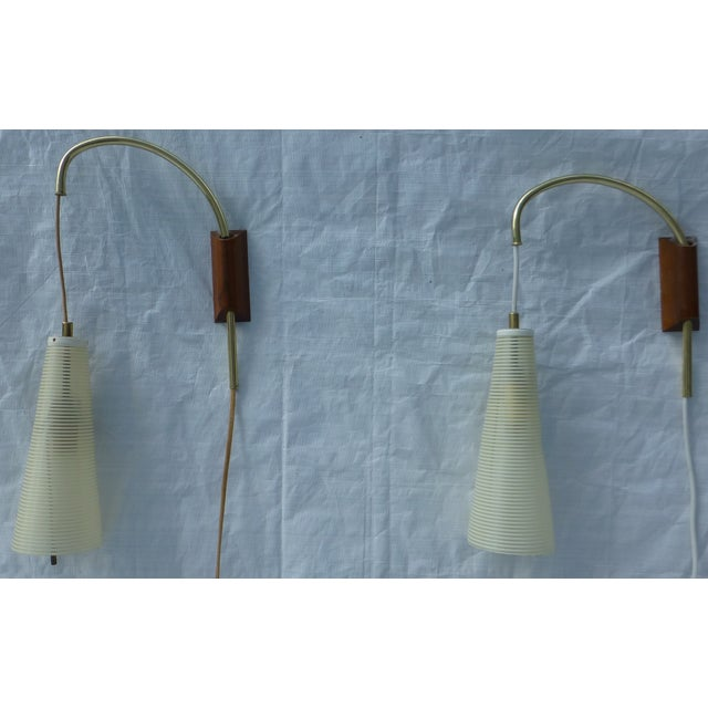 Image of Mid-Century Counterweight Wall Sconces - A Pair