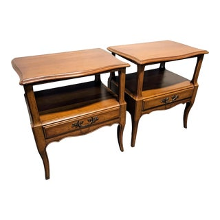 Davis Cabinet Co French Provincial Nightstands - A Pair