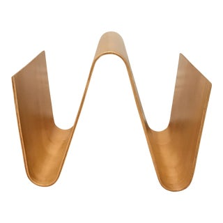Blonde Bentwood Magazine Rack